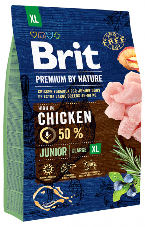 Корм для собак - BRIT Premium By Nature Junior XL, 3 кг