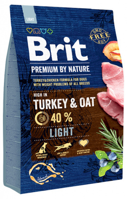 Диетический корм для собак - BRIT Premium By Nature Light, 3 кг