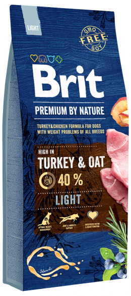 Barība suņiem - BRIT Premium By Nature Light, 15 kg