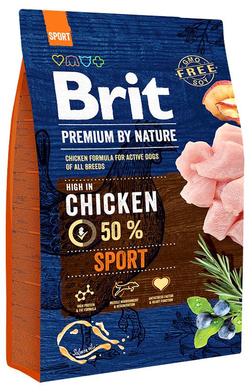 Barība aktīviem suņiem - BRIT Premium By Nature Sport, 3 kg