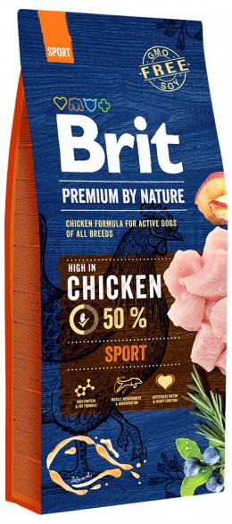 Barība aktīviem suņiem - BRIT Premium By Nature Sport, 15 kg