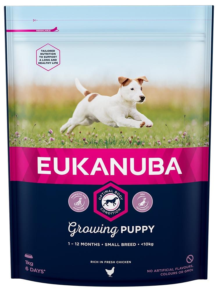 Barība suņiem - Eukanuba Puppy Small Breed, 1 kg