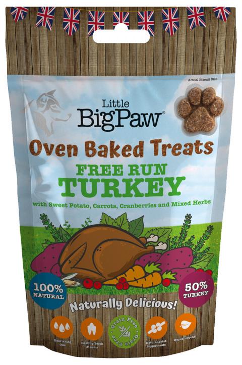Gardums suņiem - Little Big Paw Oven Baked Treats, Turkey, 130 g title=