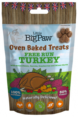 Gardums suņiem - Little Big Paw Oven Baked Treats, Turkey, 130 g