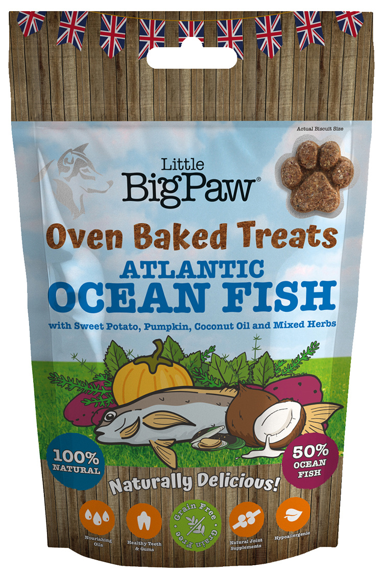 Gardums suņiem - Little Big Paw Oven Baked Treats, Ocean Fish, 130g