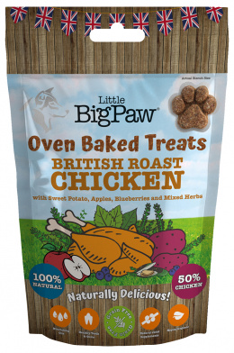 Лакомство для собак - Little Big Paw Oven Baked Treats, Chicken, 130 г