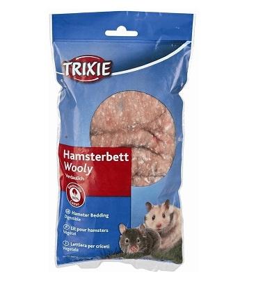 Aksesuārs grauzēju būrim - Wooly for Hamster's bed / Vate būriem 20 gr (brūna)