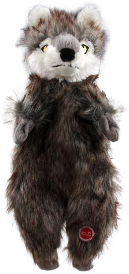 Игрушка для собак – Dog Fantasy Good's Skinneeez wolf plush, 34 см