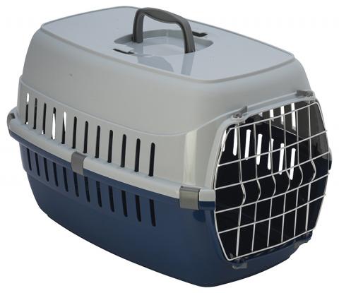 Транспортировочный бокс – Dog Fantasy Carrier, Blue, 58 x 37 x 35 см title=