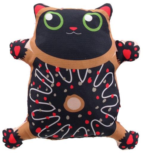 Игрушка для кошек - LET`S PLAY cat with catnip 14 cm, brown title=