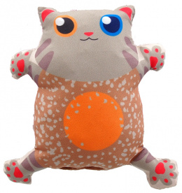 Игрушка для кошек - LET`S PLAY cat with catnip 14 cm, beige