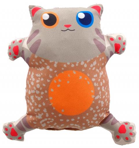 Игрушка для кошек - LET`S PLAY cat with catnip 14 см, beige title=