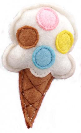 Игрушка для кошек - LET`S PLAY ice cream with catnip 10 см, white