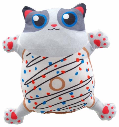 Игрушка для кошек - LET`S PLAY cat with catnip 14 cm, white title=