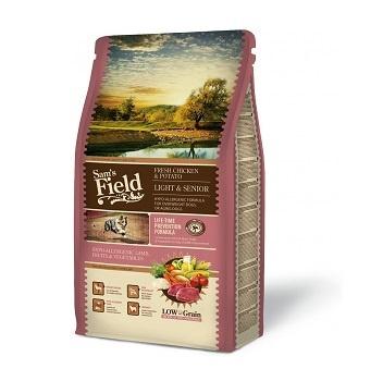 Корм для собак сеньоров - SamsField Lamb & Rice Light & Senior, 13 кг