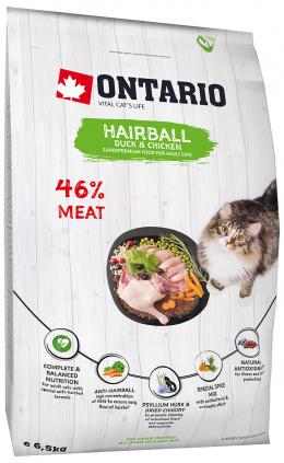Barība kaķiem - Ontario SP Cat Hairball, 6,5 kg