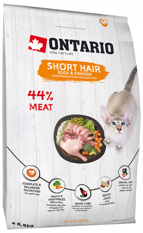 Корм для кошек - Ontario SP Cat Shorthair, 6,5 кг title=