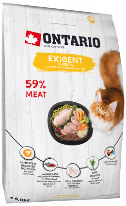Корм для кошек - Ontario SP Cat Exigent, 6,5 kg