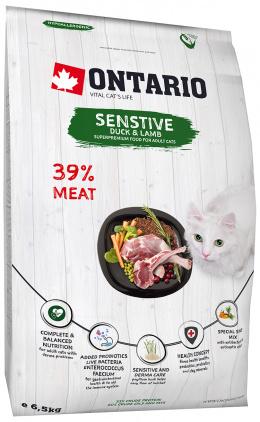Barība kaķiem - Ontario SP Cat Sensitive / Derma, 6.5 kg