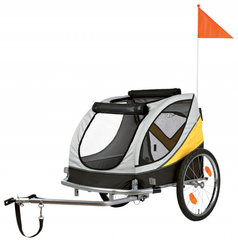 Прицеп для велосипеда - TRIXIE Bicycle trailer, L: 78*78*86 (150) см