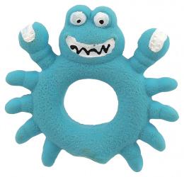 Игрушка для собак - Dog Fantasy Good's Latex Crab with sound, blue, 10 см