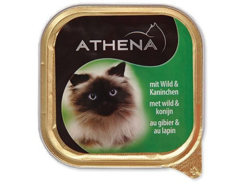 Консервы для кошек - Athena Wild and Rabbit, 100 г title=
