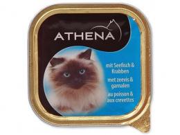 Консервы для кошек - Athena, 100г (рыба+крабы)