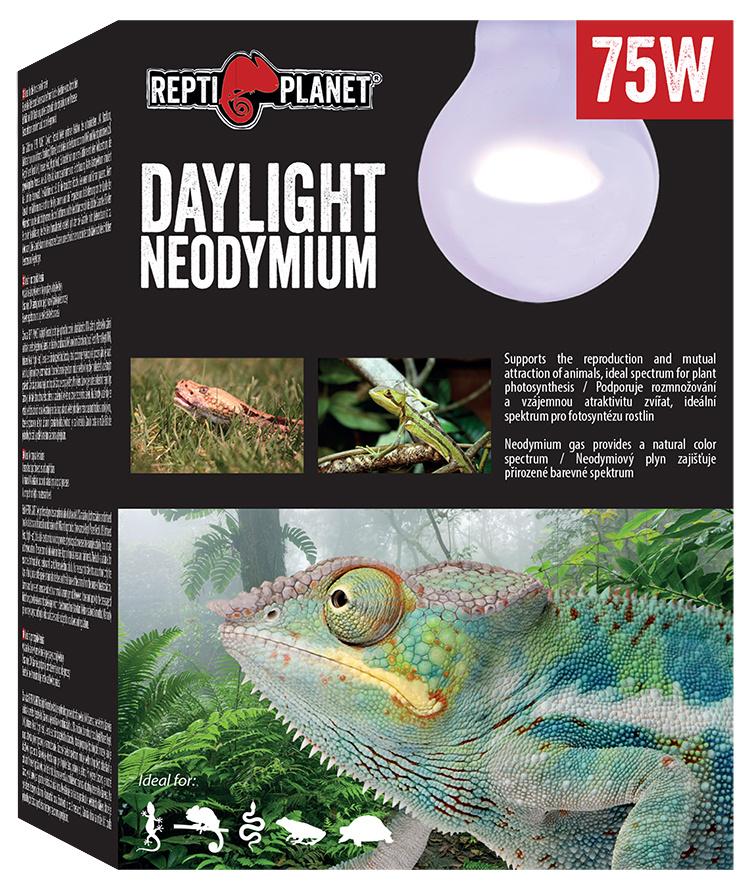 Spuldze terārija lampai - ReptiPlanet Daylight Neodymium, 75W