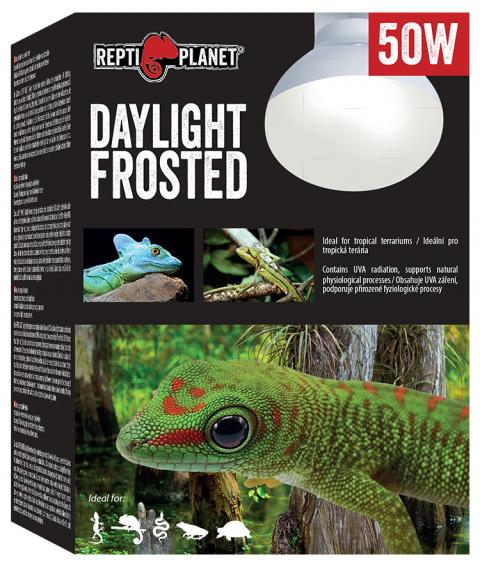 Лампа для террариумов - ReptiPlanet Daylight Frosted, 50W title=