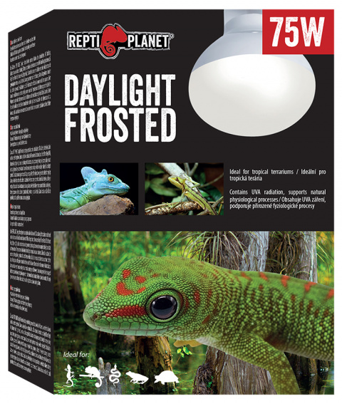 Лампа для террариумов - ReptiPlanet Daylight Frosted, 75W title=