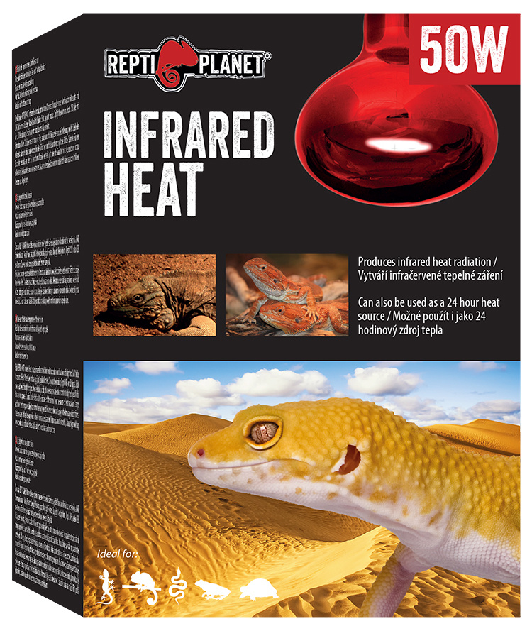 Spuldze terārija lampai - ReptiPlanet Infrared HEAT, 50W