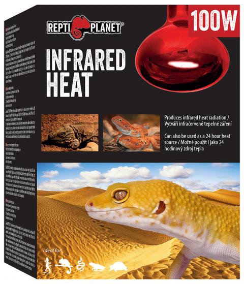 Лампа для террариумов - ReptiPlanet Infrared HEAT, 100W title=