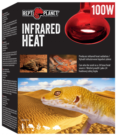 Spuldze terārija lampai - ReptiPlanet Infrared HEAT, 100W title=