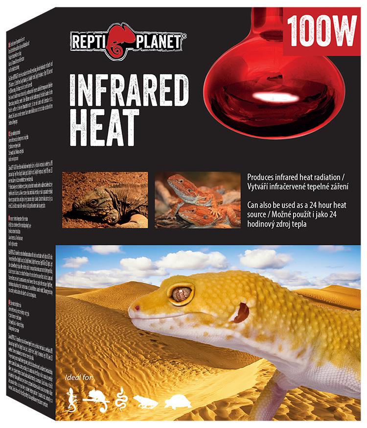Spuldze terārija lampai - ReptiPlanet Infrared HEAT, 100W