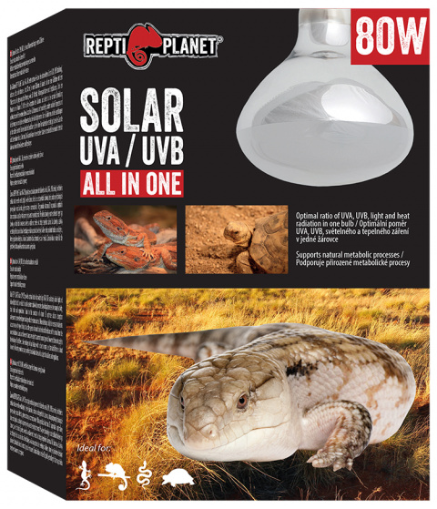 Лампа для террариума - ReptiPlanet Solar UVA & UVB, 80W title=