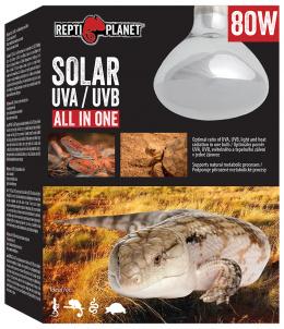Лампа для террариумов - ReptiPlanet Solar UVA & UVB, 80W