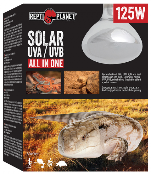 Spuldze terārija lampai - ReptiPlanet Solar UVA & UVB, 125W title=