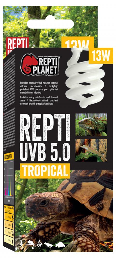 Spuldze terārija lampai - ReptiPlanet Repti UVB 5.0, 13W title=