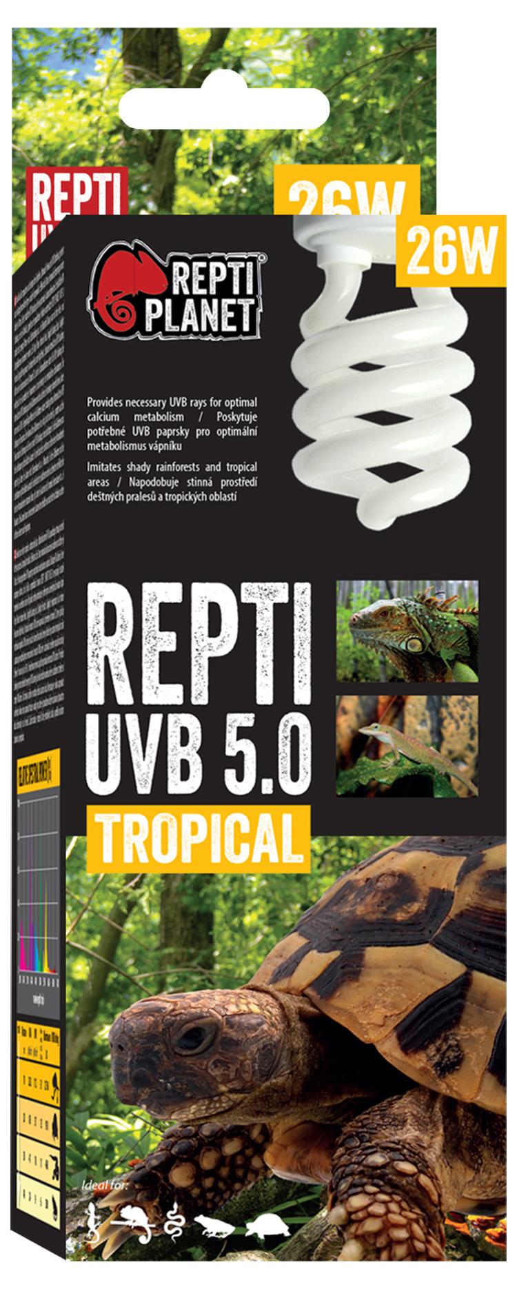 Лампа для террариумов - ReptiPlanet Repti UVB 5.0, 26W