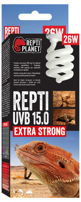 Spuldze terārija lampai - ReptiPlanet Repti UVB 15.0, 26W