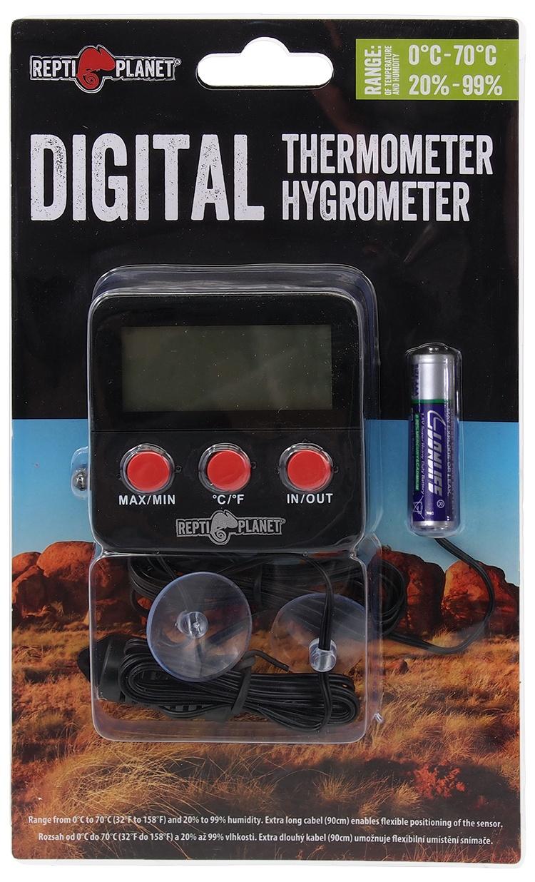 Hidrometrs / termometrs terārijam - ReptiPlanet LCD Outdoor