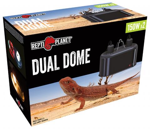 Аксессуар для террариума - ReptiPlanet Dual Dome, 2 x 150W. title=