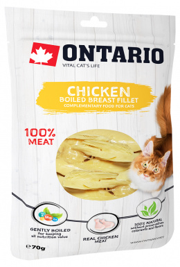 Gardums kaķiem - Ontario Boiled Chicken Breast Fillet, 70 g