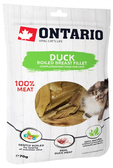 Лакомство для кошек - Ontario Boiled Duck Breast Fillet, 70 г title=
