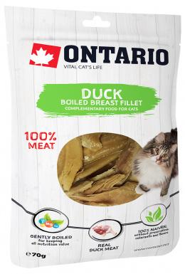 Лакомство для кошек - Ontario отварная утиная грудка, 70 г