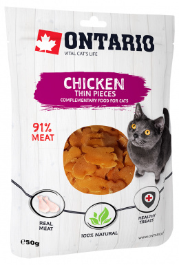 Лакомство для кошек - Ontario Chicken Thin Pieces, 50 г