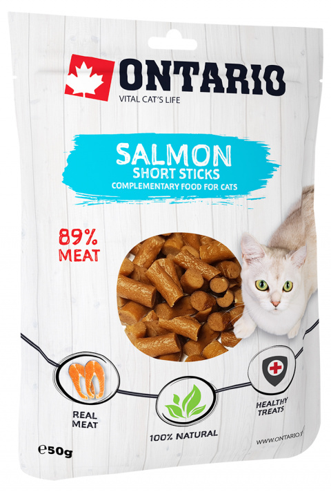 Gardums kaķiem - Ontario Salmon Short Sticks, 50 g title=