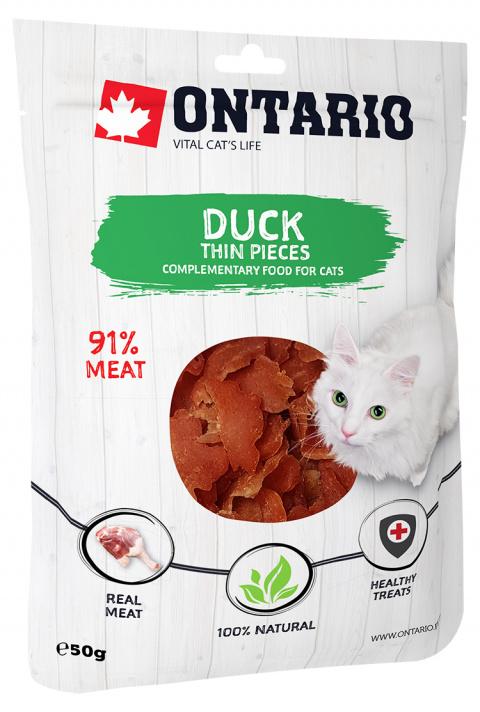 Лакомство для кошек - Ontario кусочки утиного мяса, 50 гр