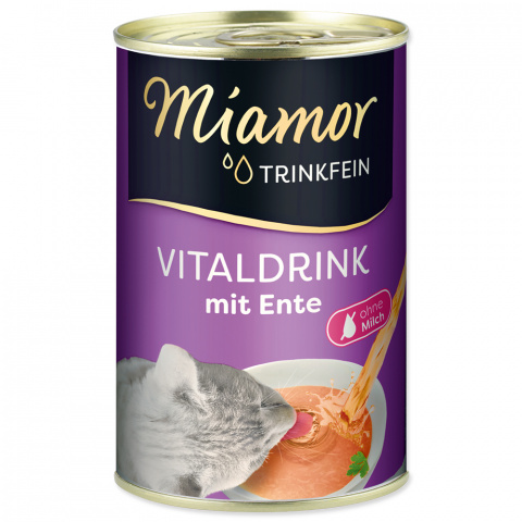 Пищевая добавка для кошек - Miamor Trinkfein Vitaldrink, с уткой, 135 мл  title=