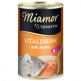 Papildbarība kaķiem - Miamor Trinkfein Vitaldrink, ar vistu, 135 ml